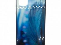 Husa telefon Plastic Huawei P40 Lite Aurora Feather Blue