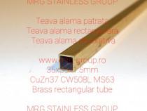 Teava alama patrata 35x35x1.5mm rectangulara Aluminiu Inox