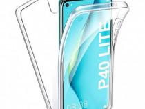 Husa telefon Silicon Huawei P40 Lite Fata+Spate Clear