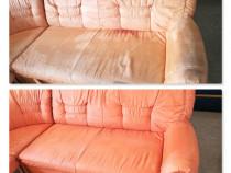 Spalare curatare canapele, saltele, coltare, la domiciliu