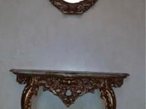 Consola vintage cu oglinda