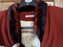 Palton+ pălărie set damă