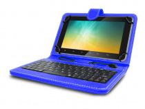 "Husa tableta cu tastatura MRG, MicroUSB, 10"", Albastru, C404"