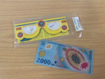 2000 lei, set eclipsa 1999, ochelari și pliant