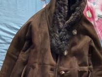 Cojocel de piele autentica cu blana purtat foarte putin.