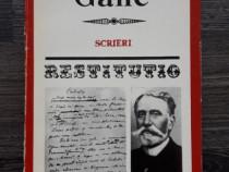 Nicolae gane scrieri seria restitutio