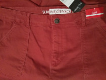 Pantaloni Blugi roșii 42 / 44 - NOI - cu Etichetă