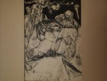 Tablou grafica Zoltán Bitay 1968