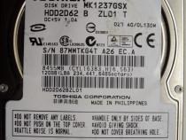 "Hard Disk-HDD Sata 2,5"" HDD-120 Gb Toshiba MK1237GSX"