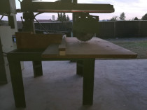 Circular de retezat (taiat transversal) lemn cu cap mobil