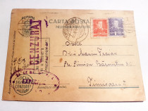 Ww2-C332-I-Scrisoare soldat roman 1943-CP militara veche.