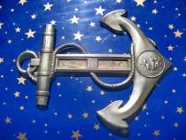 C343-Aplica veche Cange marina metal ZERO DANMARK.