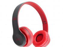 Casti wireless MRG P47 Rosu cu bluetooth microfon C291