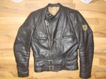 Geaca HARRO,piele naturala,model ideal pilot,moto,rock
