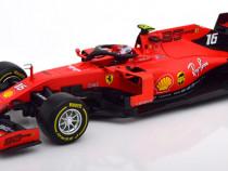 Macheta Ferrari SF90 Leclerc Formula 1 2019- Bburago 1/18 F1