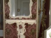 Consola amoras+oglinda vintage antic,baroc rococo shabby