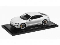 Macheta Oe Porsche Taycan Turbo S 1:18 Alb Metalizat