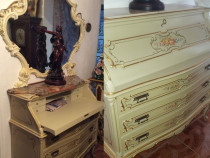 Comoda-secretaire+oglinda,vintage antic baroc venetian