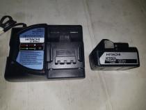 Acumulator baterie HITACHI 5 ah si Incarcator UC 18YML2