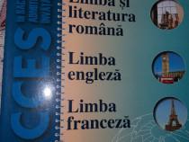 Limba si literatura romana , limba engleza , limba franceza