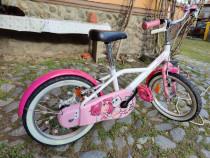Bicicleta 16 inch decathlon BTWIN 500 DOCTO GIRL , ca noua