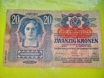C562-Bancnota Ungaria veche ocupatia Reich 1913 20 Kronen-20