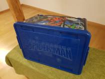 Cutie Spider-man depozitare jucarii cu roti 50L suporta 25kg