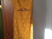 Rochie culoarea galben-muștar WAREHOUSE Uk