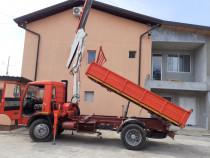 Camion iveco _fiat basculabil + macara 3600 kg