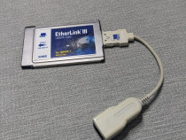 Placa retea Laptop PCMCIA 3com rj45 internet LAN