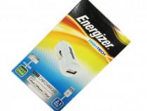 Incarcator auto + Cablu de date Energizer Hightech iPhone