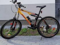 """Bicicletă First Bike 26"""" cadru din aluminiu, full suspension"""