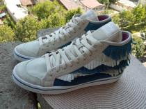 Bascheti piele Adidas, mar.42, UK 8 (26.5 cm) made in Viena