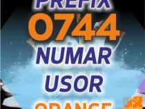 Numar Prefix Vechi Orange 0744.230.4x0 usor aur gold numere