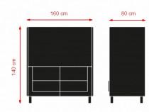 Canapea 2 locuri office antifonica 160 x 140 x 80 cm