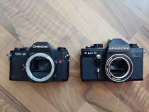 Aparat foto SLR, pe film chinon cg5 și praktica plc2