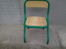 Scaun gradinita pentru copii, din lemn si metal, 29 cm