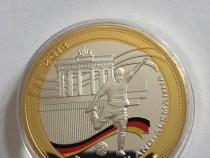 Medalie Fotbal 2014 placata cu argint si aur