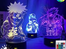 Lampa veioza 3D Naruto Shippuden Kakashi Itachi Sasuke Anime