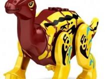 Dinozaur mediu tip Lego Jurassic de 20 cm: Parasaurolophus