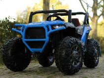UTV electric pentru 2 copii Conquerer 4x45W 12V #Blue