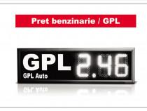 Afisaj LED pret GPL / Afisaj preturi benzinarii
