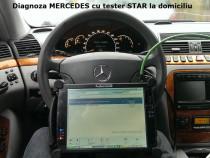 Verificare calibrare reglare suspensie pneumatica Mercedes