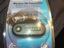 Wireless MP3 player auto modulator transmitter cu cablu pt t