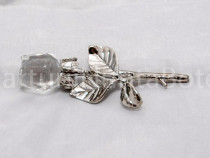 Marturii nunta/botez Trandafir cristal + personalizare
