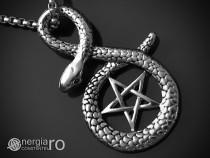 Pandantiv Amuleta Pentagrama Sarpe Incolacit - cod PND030