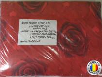 Lenjerie de pat XXL 100% bumbac - Trandafiri Rosii