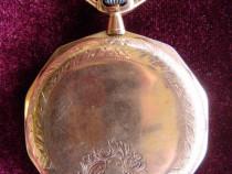 Ceas de buzunar cu 3 capace, aur 14K