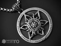 Pandantiv Amuleta Steaua Scutul lui David INOX - cod PND050b