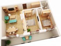 Apartament cu 3 camere la parter, zona Garii, cu balcon